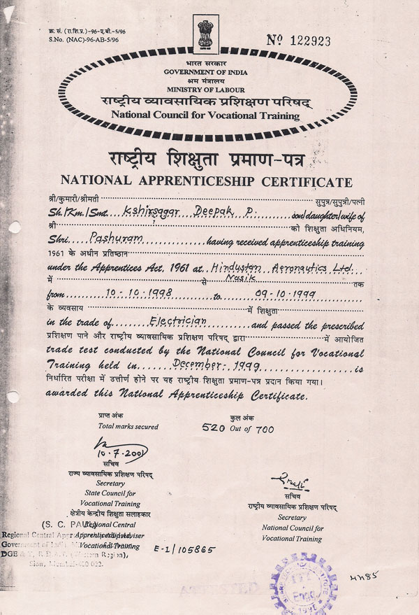 Electrical Courses Electrical Courses Certificates